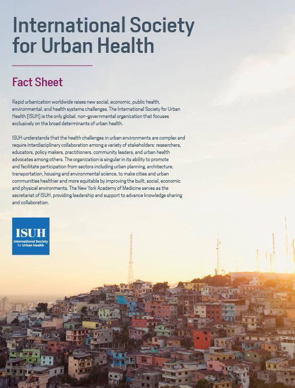 ISUH - International Society for Urban Health | Making
